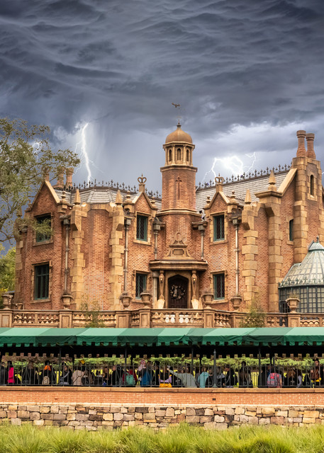 Stormy Haunted Mansion - Disney World Images