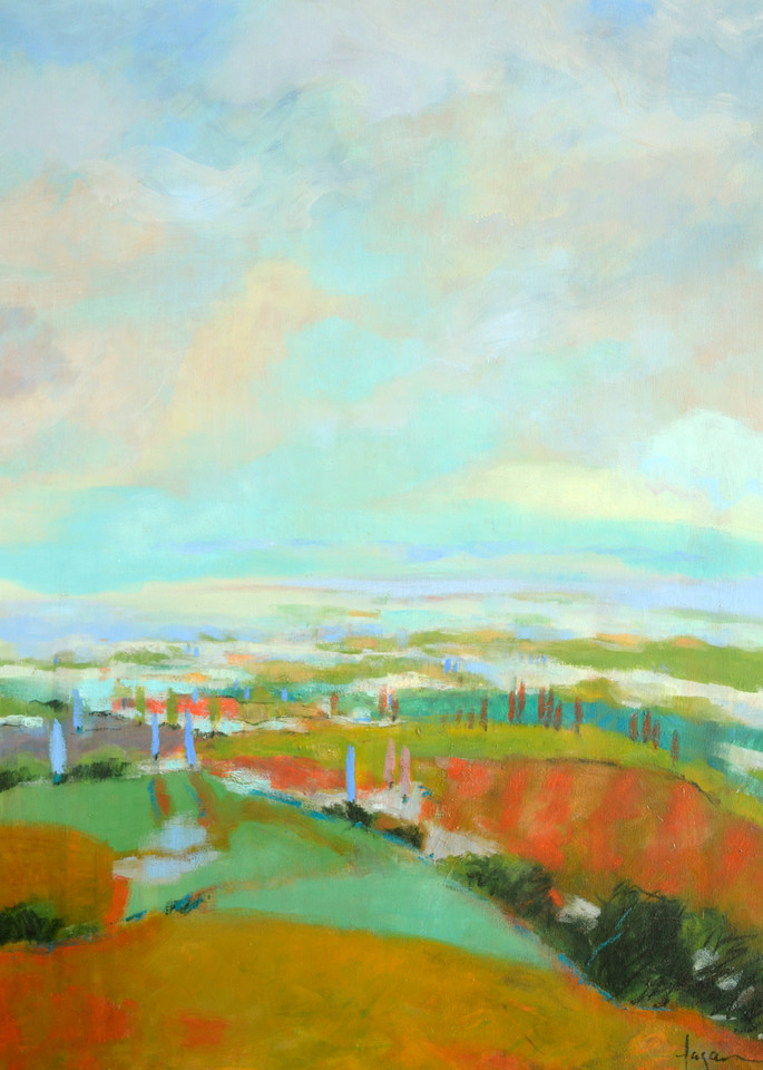 Large Abstract Landscape Clouds, Art Print Painting by Dorothy Fagan