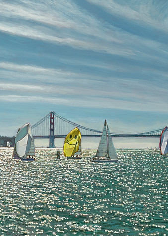 Sailing The Golden Gate Art | The Huntington Studio