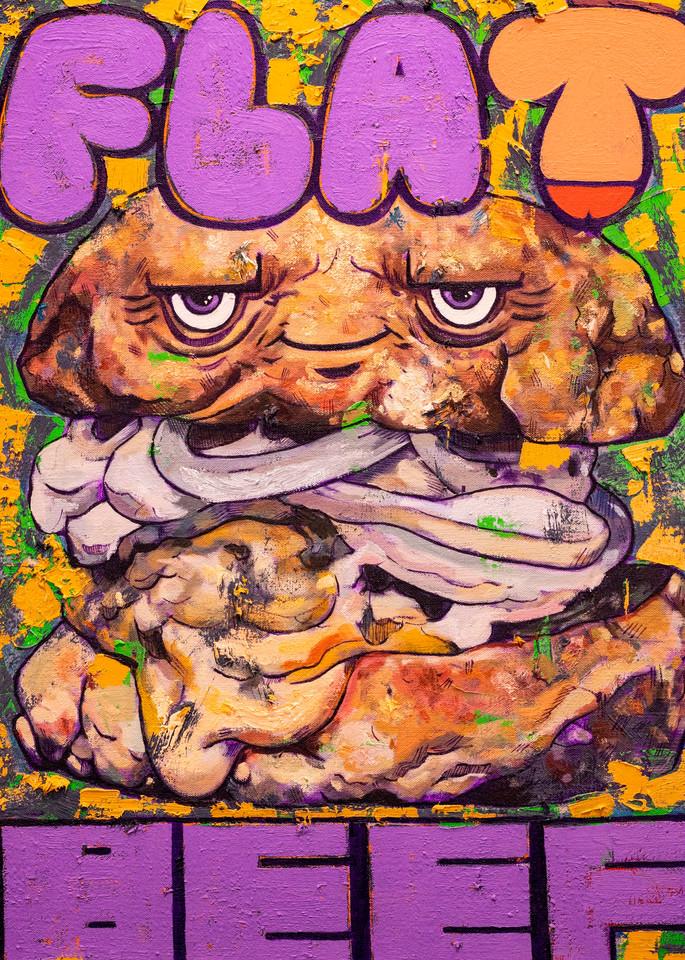 Flat Beef Burger! Art   Matt Pierson Artworks