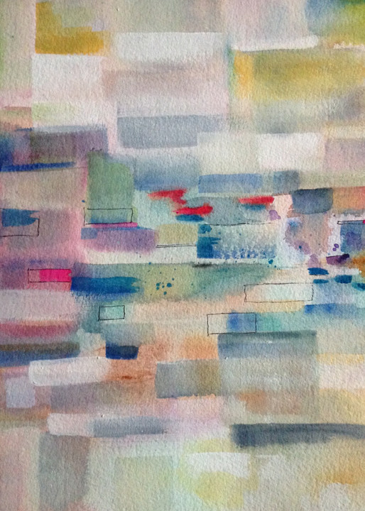 Traffic, From an Original Watercolor Painting