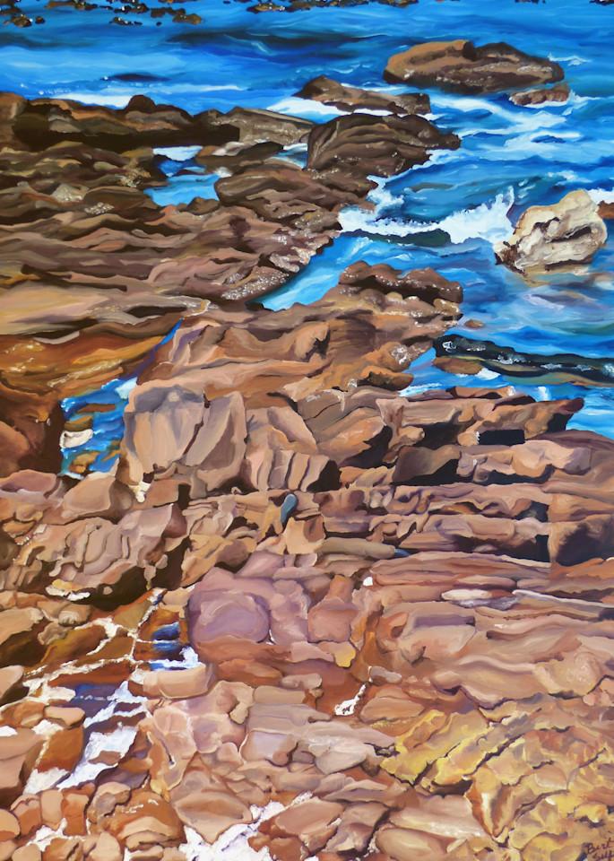 Patagonia Coastline painting