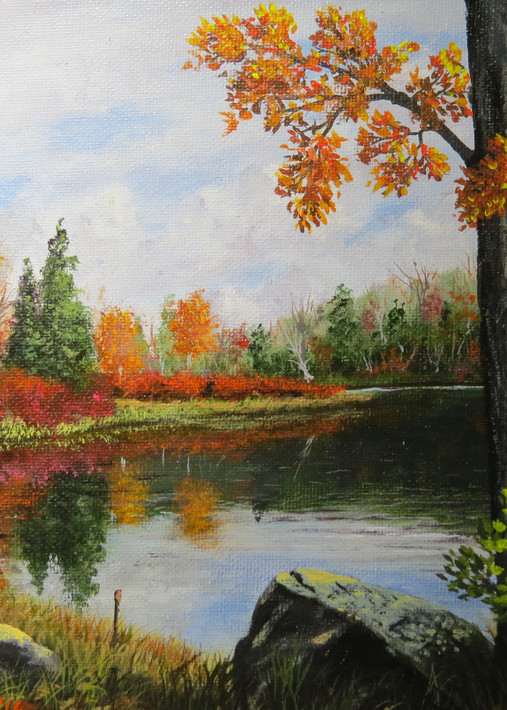 Autumn Reflections Art   Mark Grasso Fine Art