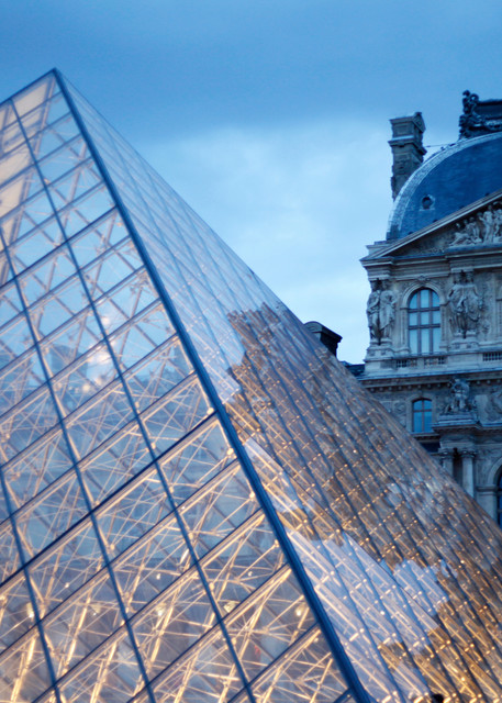 Louvre At Dusk  Photography Art   Belathée Fine Arts by Belathée Photography