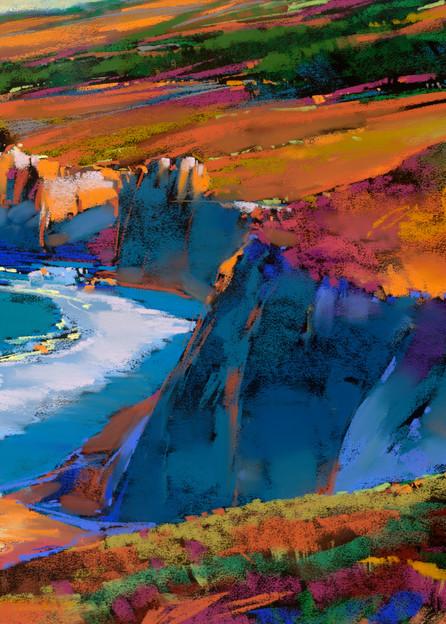 Big Sir In Blue  Art | Michael Mckee Gallery Inc.
