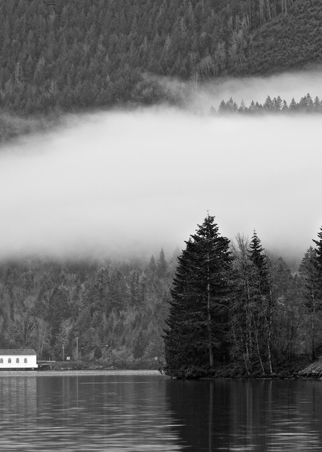 Dexter Lake With Low Clouds Art | Shaun McGrath Photography