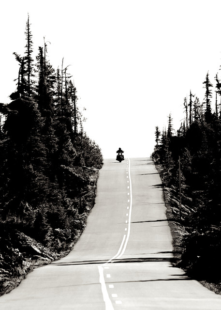 Motorcycle On Mc Kenzie Pass Art | Shaun McGrath Photography