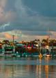 balboa pavilion just after sunrise.