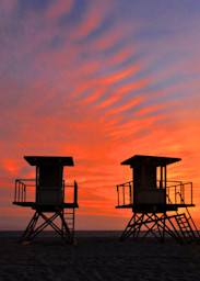 Huntington Beach Lifeguard Stand Panorama Art | Shaun McGrath Photography