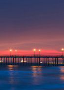 huntington beach pier panorama