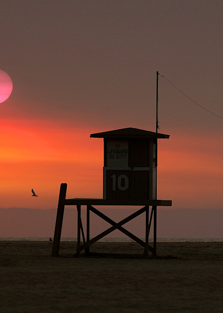 Wildfire Sunset Art   Shaun McGrath Photography
