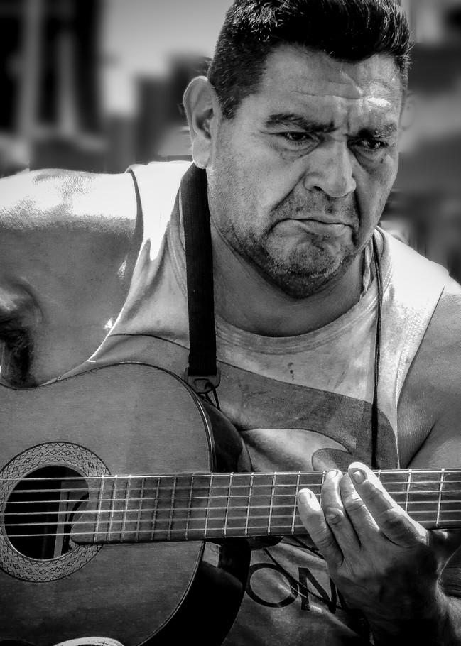 Guitarist On The Street Buenos Aires Photography Art | Dan Katz, Inc.