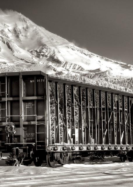 Rail Car And Mt Shasta Art | Shaun McGrath Photography