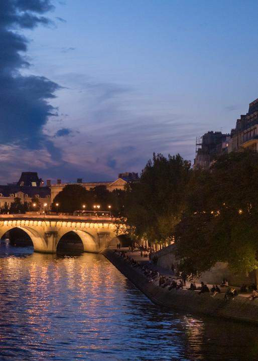 Early Evening On The Seine, Paris/sold by Ben Asen Photography