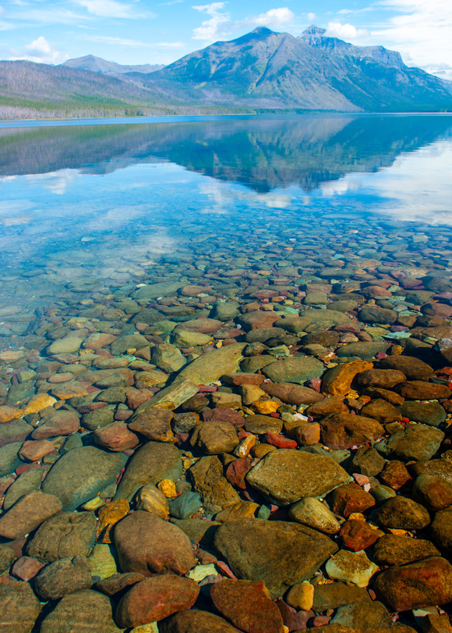 Lake Mc Donald Rocks Art   Brandon Hirt Photo
