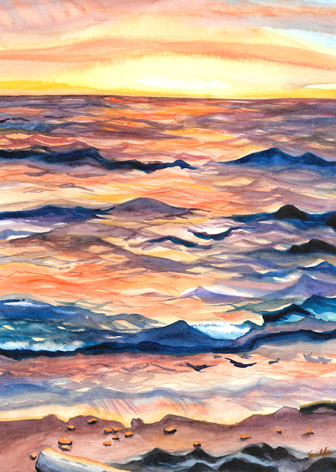 Lake Erie Watercolor Brittany Selfe