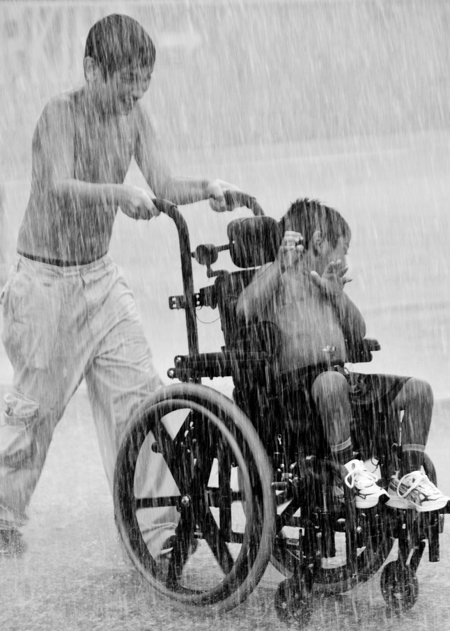 Boys and Wheelchair