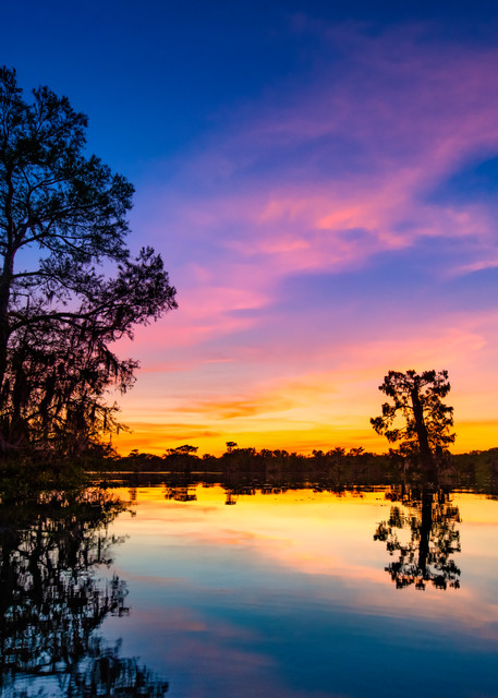 Sunset over Henderson Swamp - Louisiana swamp photography prints