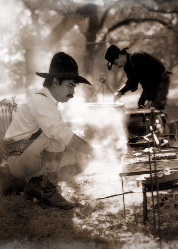 Cowboys Cooking On The Range