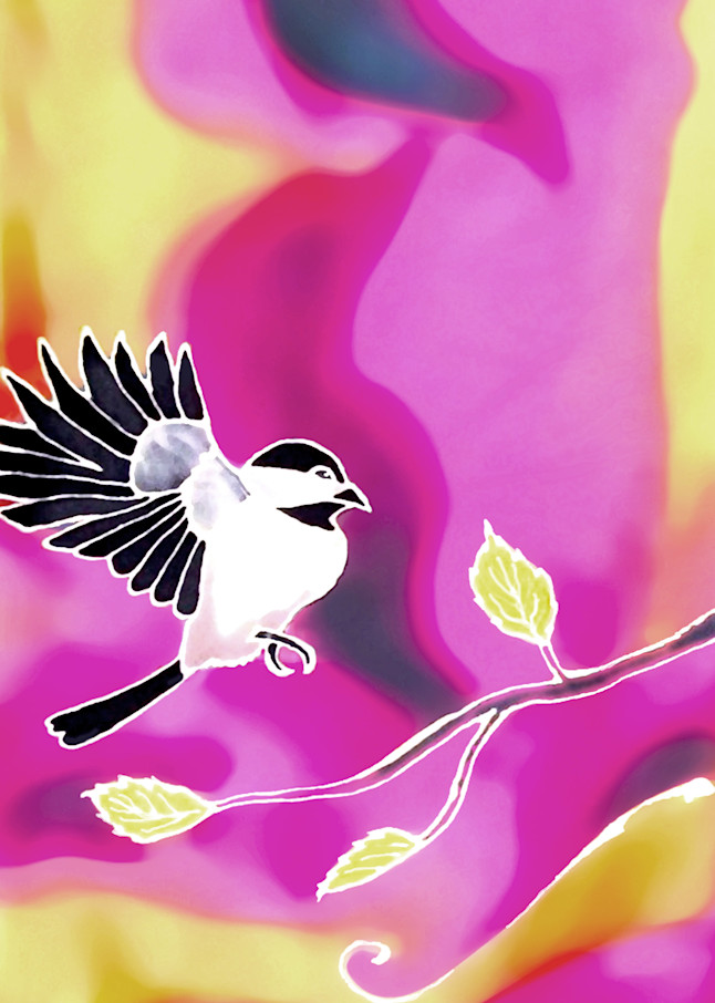 Spring Chickadee by Amanda Faith Thompson Alaska art print