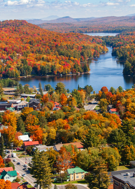 Old Forge Town Fall Aerial Photography Art   Kurt Gardner Photogarphy Gallery