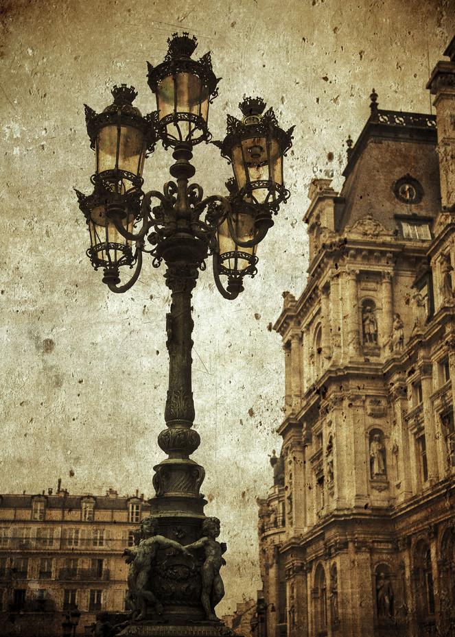 Paris streetlight