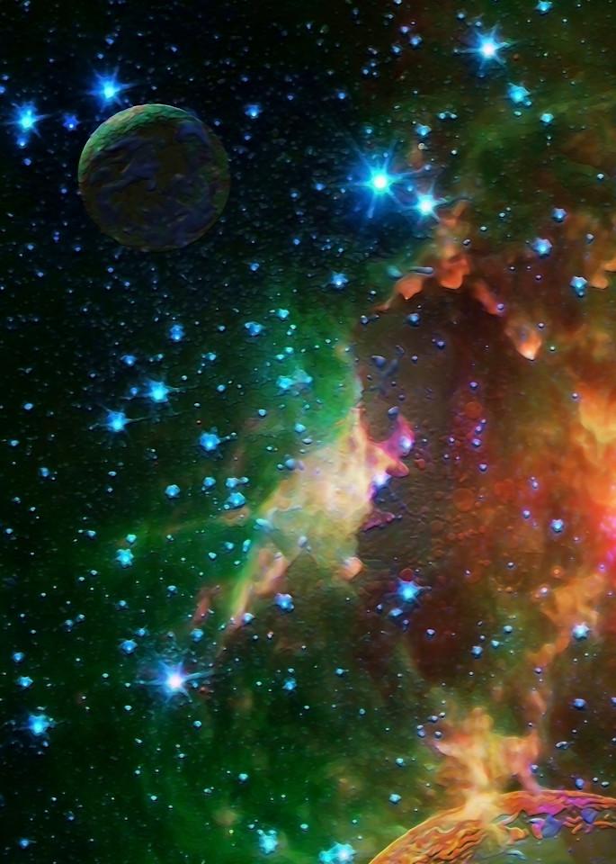 Space Fantasy Art - Storm in Space - Don White Art Dreamer