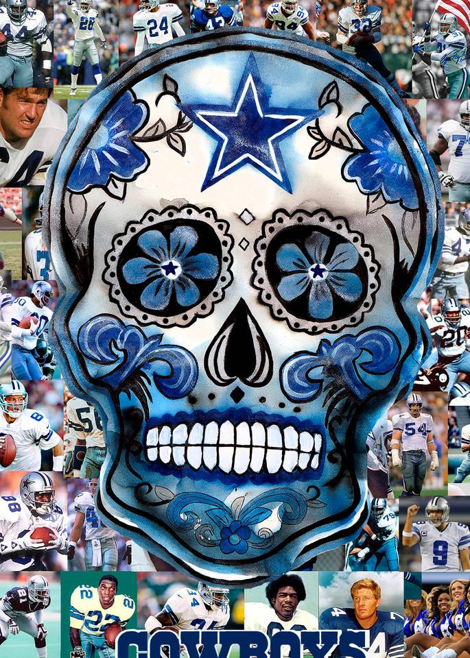 Cowboy Legends   Sugar Skull Art   William K. Stidham - heART Art