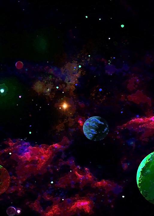 Space Fantasy Art - Planets Gathering - Don White Art Dreamer