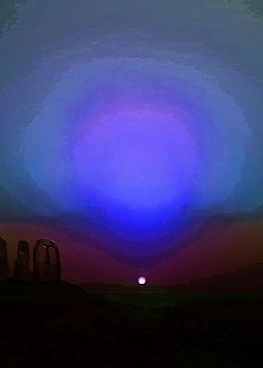 Space Fantasy Art - Martian Sunset - Don White Art Dreamer