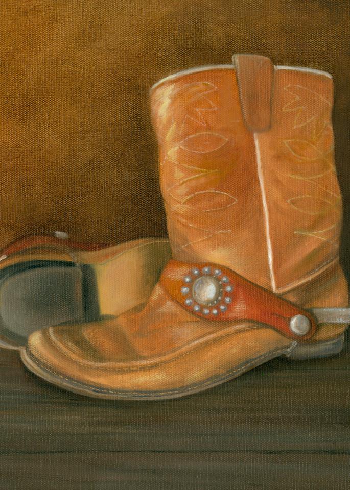 cowboy-boots, spurs, childhood-memories, western-print