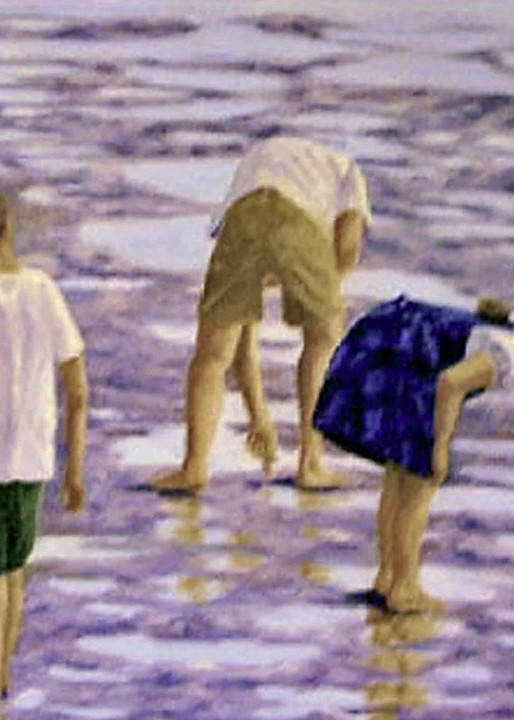 Exploration at Low Tide , From an Original Oil Painting