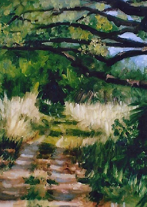 Off the Beaten Path , From an Original Oil Painting