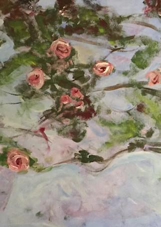 Monet's Roses  Art | Scott Dyer Fine Art