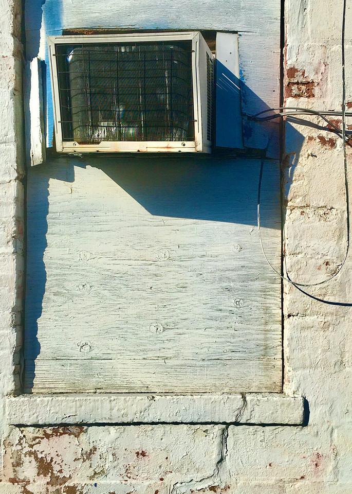 Boarded White Window / Broken Air Conditioner