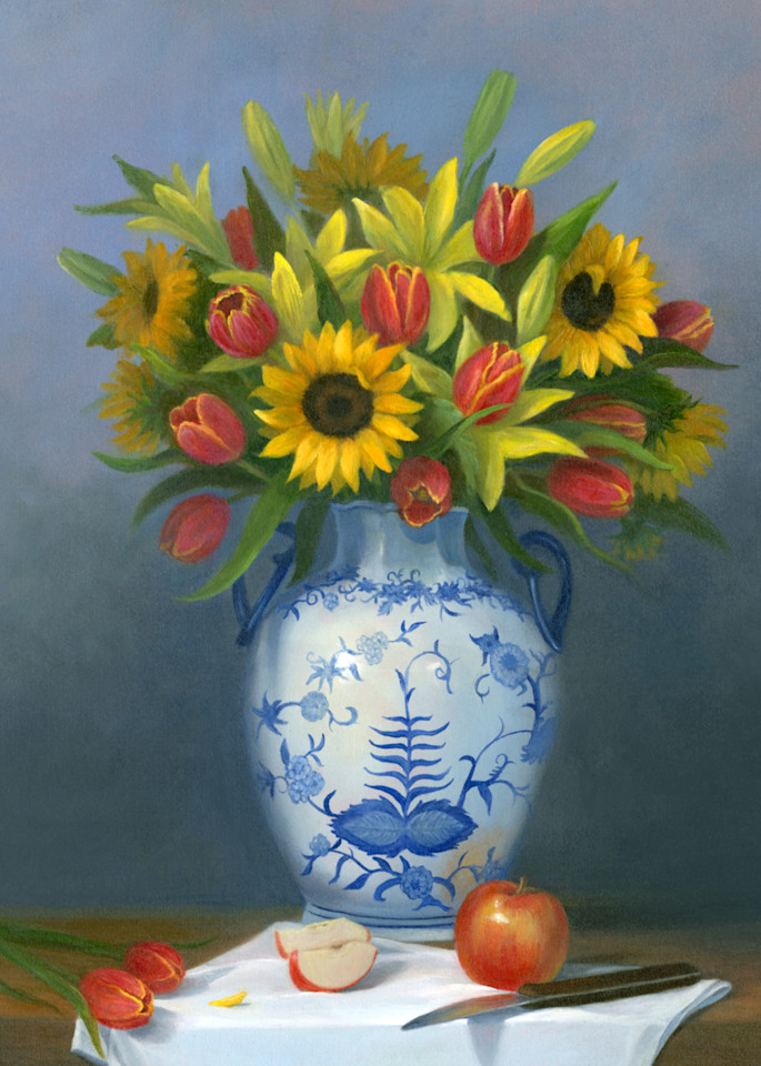 *Floral With Sunflowers, Lilies And Tulips Art | Tarryl Fine Art