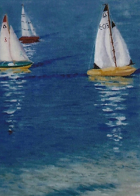 The Race is On, From an Original Oil Painting