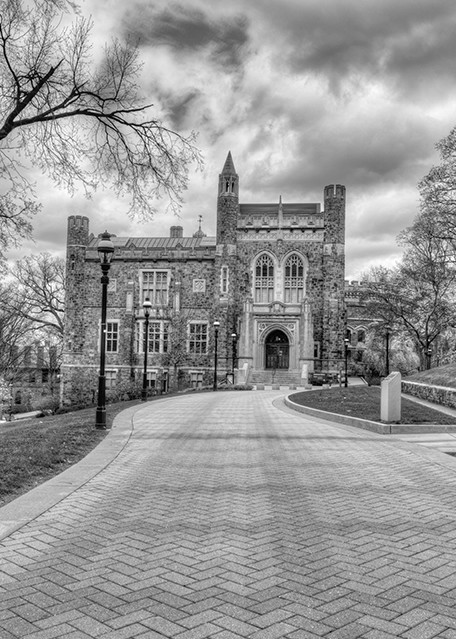 Linderman Library - black and white - Michael Sandy Photography