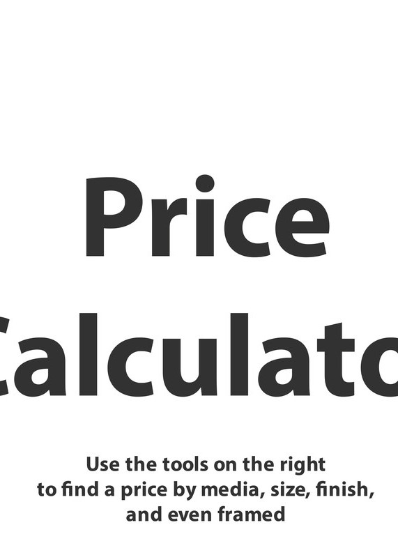 Price Calculator Tool Photography Art | Peter Hawkins Photography