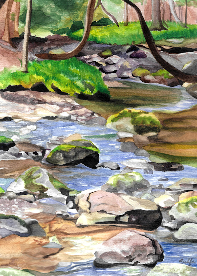 Creek Walking | Watercolor
