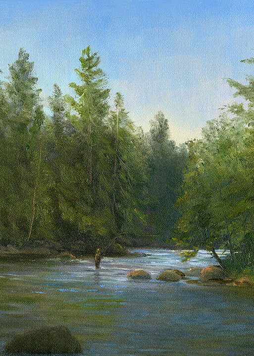 *Fly Fishing The Saranac River* Art | Tarryl Fine Art