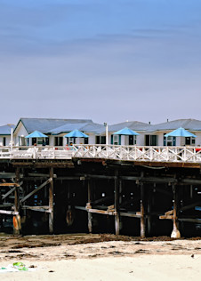 Crystal Pier Cottages   Pacific Beach Photography Art   Rosanne Nitti Fine Arts