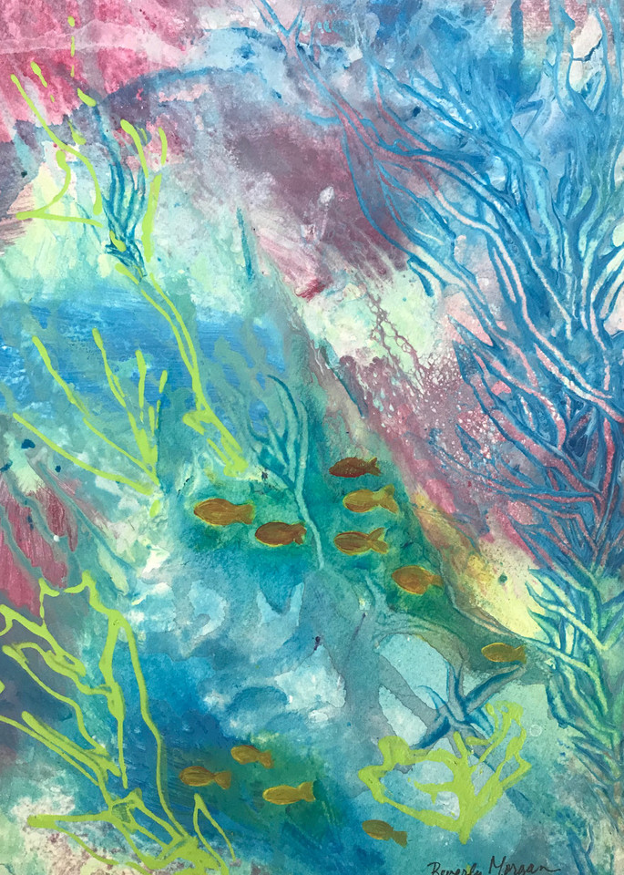 Undersea, From an Original Watercolor Painting