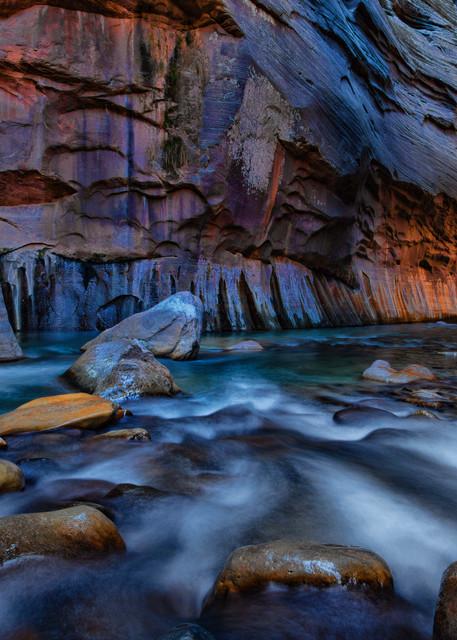 Navigating the Narrows Photograph 2906 | Zion Narrows | Zion National Park | Canyon Photography | Koral Martin Fine Art Photography