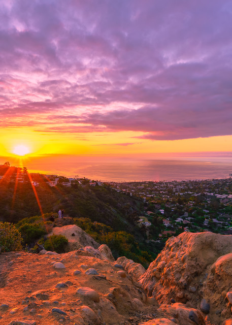 Mount Soledad, San Diego Rocky Sunset Wall Art Print by McClean Photography