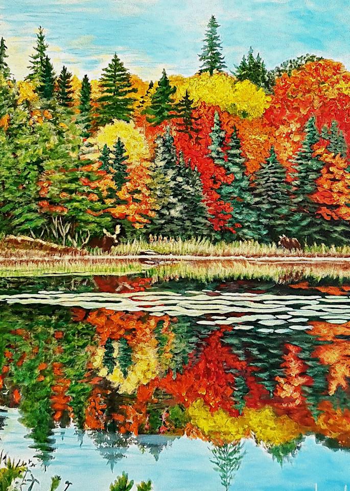 Fall At Cache Lake  Art | Lynda Moffatt Fine Arts