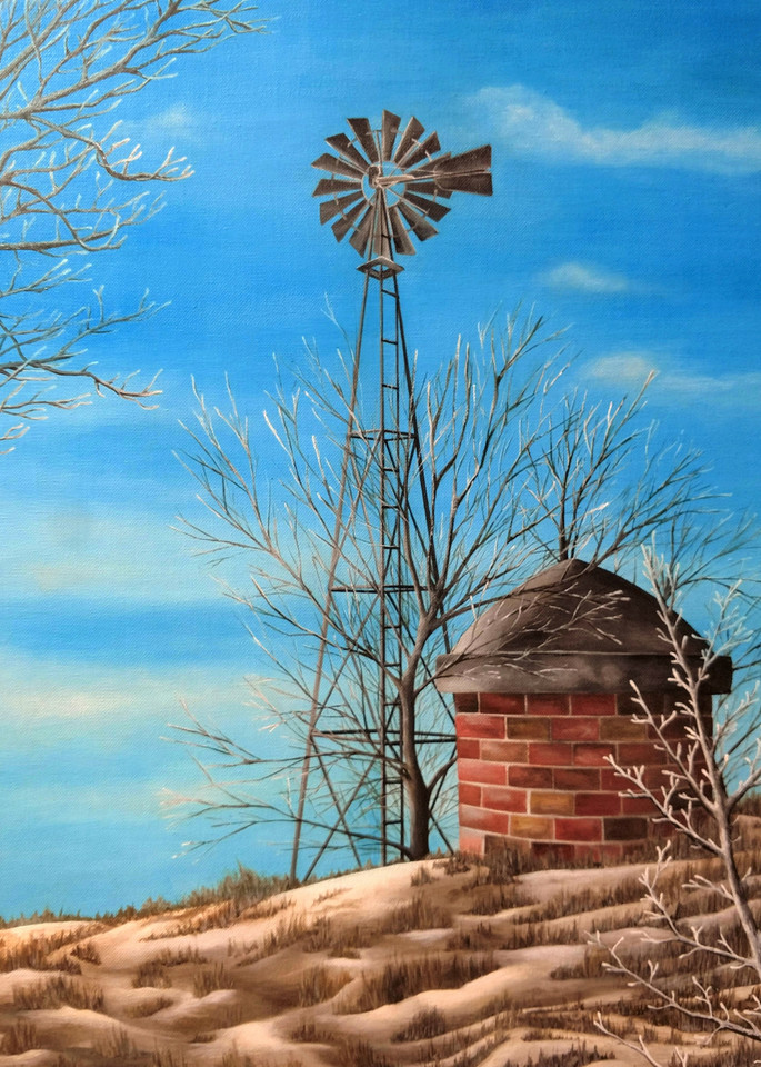 Winter Windmill by Ashley Koebrick Schmidt