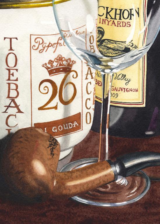 Duckhorn Cabernet Art | Gary Curtis Watercolors
