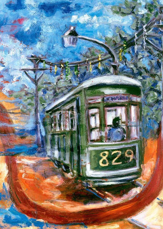 Trolley Car 829 Katrina Art | Joan Cox Art