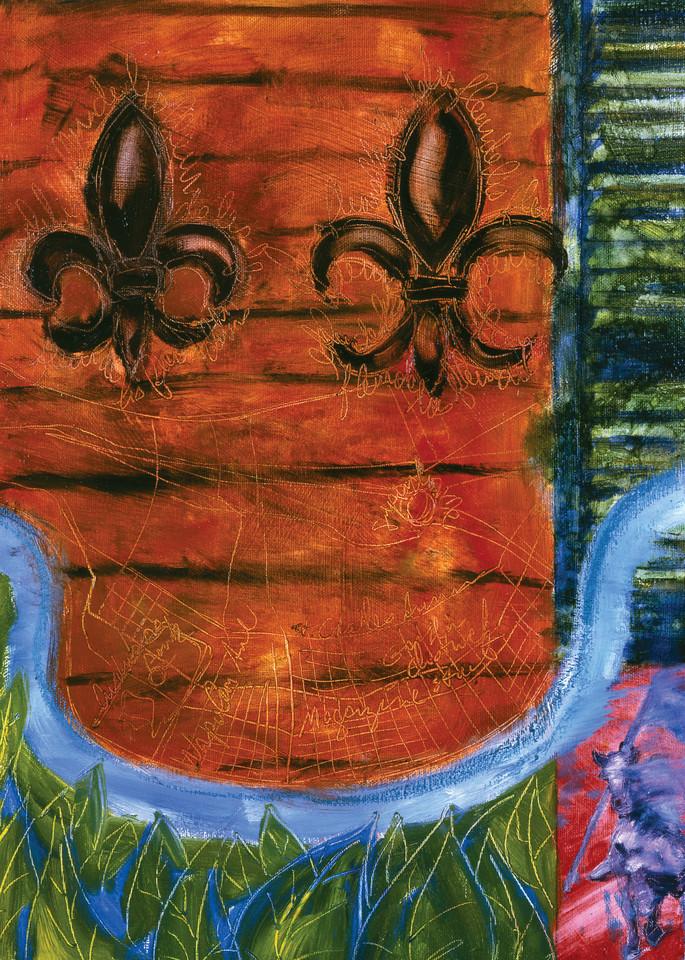 Shutters Fleur De Lis Art | Joan Cox Art